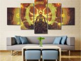 Mural Printing Service 5 Panel Overwatch Zenyatta Game Canvas Printed Painting for Living