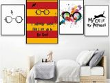 Mural Printing Service Classic Movies Harry Potter Glasses Poster&prints Modern Home Decor