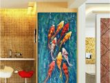 Mural Printing Service Wall Art Picture Hd Print Chinese Abstract Nine Koi Fish Landscape