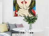 Mural Size Prints 2019 Ssshhh Famous Design Deborah Azzopardi Girl Painting Oil