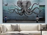 Mural Size Prints Mural Of A Hybrid Elephant Octopus Creature Painting Print On Canvas