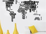 Mural Stickers for Walls Adarl Home Decor World Map Removable Art Decals Mural Living Room