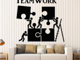 Mural Stickers for Walls Vinyl Wall Decal Teamwork Motivation Decor for Fice Worker Puzzle
