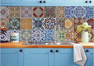 Mural Tiles for Kitchen Decor Backsplash Tile Stickers Diy Tile Decals Mexican Traditional