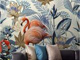 Mural Wall Art Decor Amazon nordic Tropical Flamingo Wallpaper Mural for