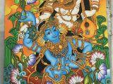 Mural Wall Hangings Indian It S Madhubani Radha Krishna Painting