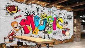 Murals for Restaurant Walls Animated Band Music Cartoon Ic Art Wall Murals Wallpaper