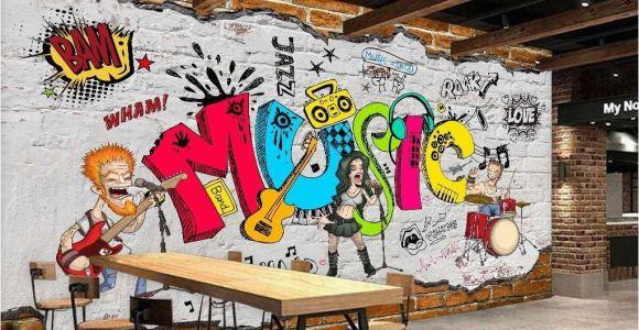 Murals for Restaurant Walls Animated Band Music Cartoon Ic Art Wall Murals Wallpaper