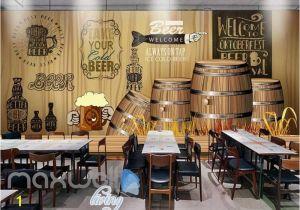 Murals for Restaurant Walls Rustic Graphic Design with Barrels Art Wall Murals Wallpaper