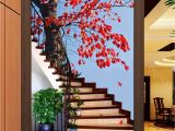 Murals for Stairway Walls 3d Maple Tree Stair Corridor Entrance Wall Mural Decals Art