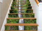 Murals for Stairway Walls 3d Single Water Fall Stair Risers Mural Pvc Sticker Mural