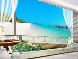 Murals for Windows Custom 3d Wallpaper Murals Maldives 3d Stereoscopic Window