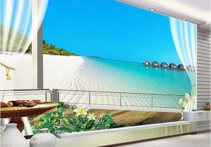 Murals for Windows Custom 3d Wallpaper Murals Maldives 3d Stereoscopic Window