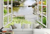 Murals for Windows Custom Wall Mural Wallpaper Modern Simple 3d Window Garden Small