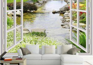 Murals for Windows Custom Wall Mural Wallpaper Modern Simple 3d Window Garden Small