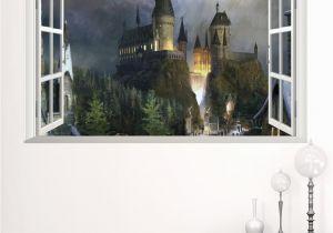 Murals for Windows New 3d Windows Ghost Castle Halloween Wall Sticker Pvc Festival Wall