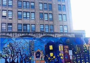 """Murals In Boston Spotted This Beautiful """"cityscape"""" Mural Outside the College Of Fine"""