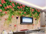 Murals On Wall which are Bricks 3d Wallpaper Custom Non Woven Mural Rose Flower Vines Brick Wall Decor Painting Picture 3d Wall Muals Wall Paper for Walls 3 D Hd Hd Hd