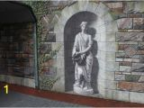 Murals On Wall which are Bricks No Niche In the Wall No Statue No Shadow Picture Of