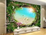 Murals Your Way Promo Code Wallpaper 3d Fantasy Fairy forest forest Garden Flower Vine Grass