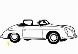 Muscle Car Coloring Pages Classic Convertible Car Coloring Page