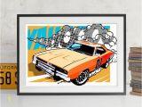 Muscle Car Wall Murals Car Art Pop Art Muscle Car Auto Art Automobile Art