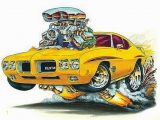 """Muscle Car Wall Murals Pin by Ernest Williams On """"monster""""street Machines """"car""""toons"""