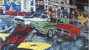Muscle Car Wall Murals This Wall Mural is A Tribute to the Age Of Muscle Cars and Features