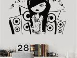 Music themed Wall Murals Vinyl Wall Decal Music Teen Girl Room Music Speakers Stickers Mural