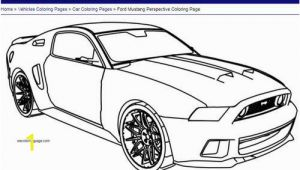 Mustang Car Coloring Pages ford Mustang Perspective Coloring Page