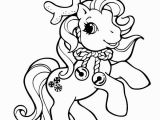 My Little Pony Christmas Coloring Pages Coloriage Petit Poney Renne De Noel