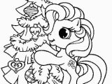 My Little Pony Christmas Coloring Pages My Little Pony with Christmas Tree