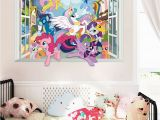 My Little Pony Wall Mural Twilight Sparkle Apple Jack Pinkie Pie Wall Decor Stickers Bedroom