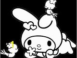 My Melody Coloring Pages Drawing Japanese Coloring Page Picture Drawing