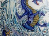 "Mythomorphia Colored Pages the Waterdragon"" Kerbyrosanes Mythomorphia Imagimorphia"