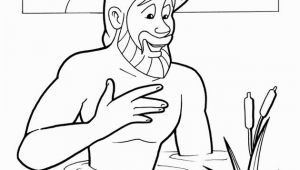 Naaman and the Servant Girl Coloring Pages Naaman Healed Coloring Page