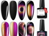 Nail Polish Coloring Pages 9d Cat Eye Gel Polish Set Chameleon Magnetic Gel Polish Galaxy Glitter Gel Polish Matte top Coat Base top Coat Shine Set10ml with Magnet Stick Uv Led