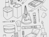 Nail Salon Coloring Pages Makeup Coloring Page Illustration Pinterest