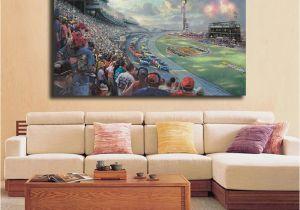 Nascar Wallpaper Murals Großhandel Nascar Thunder Von Thomas Kinkade Hd Leinwand Poster