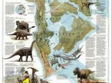 National Geographic Dinosaur Wall Mural Dinosaur Wall Stickers north America Education Map Decoration Kids