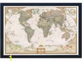 National Geographic Executive World Map Wall Mural Winding Hills Designs Llc National Geographic Framed