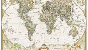 National Geographic Executive World Map Wall Mural World Executive National Geographic Wall Map 3 Sheet Mural