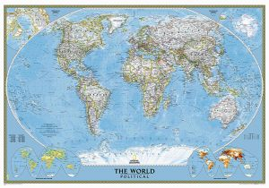 National Geographic Wall Murals Buy World Classic Mural by National Geographic Maps