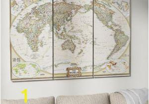 National Geographic Wall Murals World Map Wall Art