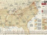 National Geographic World Map Wall Mural Battles Of the Civil War Wall Map 35 75 X 23 25 Inches