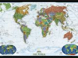 National Geographic World Map Wall Mural Craenen National Geographic Flat Maps