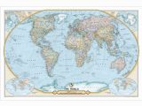 National Geographic World Map Wall Mural Ngs 125th Anniversary World Map Paper