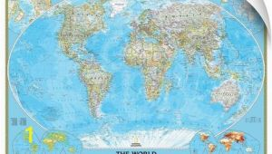 National Geographic World Map Wall Mural Ngs Political Map Of the World