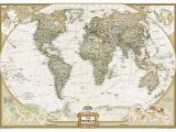 National Geographic World Map Wall Mural World Executive National Geographic Wall Map 3 Sheet Mural