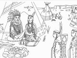 Native American Coloring Pages for Preschoolers Native Americans Indians Sat Front Of Tipi Native